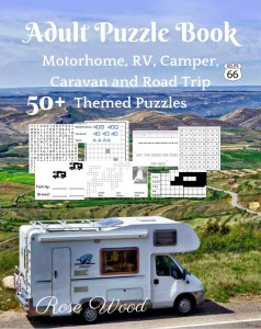 Adult Puzzle Book: 50+ Motorhome, RV, Camper, Caravan and Road Trip Themed Puzzles